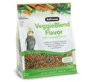 ZuPreem VeggieBlend Cockatiel & Small Bird Pellet Food 2lb