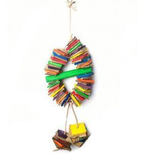 Magic Circle Shredding Coronet - Natural Bird Toy