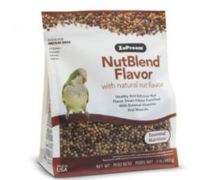 ZuPreem NutBlend Cockatiel & Small Bird Pellet Food 2lb