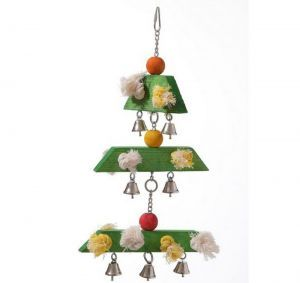 Triple Wood Christmas Tree Festive Bird Toy