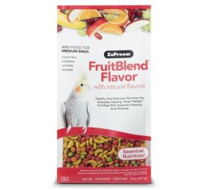 ZUPREEM FRUITBLEND MEDIUM COCKATIEL PELLET FOOD 0.875lb