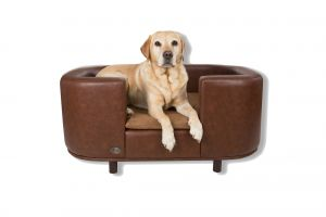 Chester & Wells Hampton Medium Brown Dog Bed
