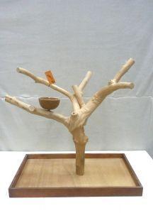 MINI JAVA TABLETOP TREE - LARGE - NATURAL HARDWOOD PARROT STAND L71007