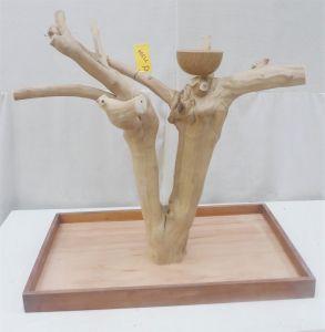 MINI JAVA TABLETOP TREE - LARGE - NATURAL HARDWOOD PARROT STAND L71334