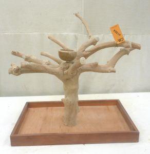 MINI JAVA TABLETOP TREE - MEDIUM - NATURAL HARDWOOD PARROT STAND M41504