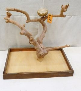 MINI JAVA TABLETOP TREE - MEDIUM - NATURAL HARDWOOD PARROT STAND M5260