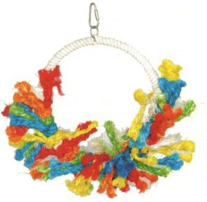Sunrise Preenable Rope Bird Toy