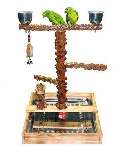 Natural Pepper Wood Bird Stand