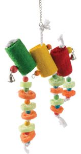 Loofah 3 Tier Stack Parrot Toy