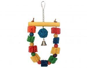 Loofah Loop Medium Bird Toy