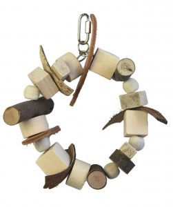 Natural Wheel Small Bird Toy
