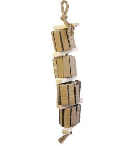 Natural Shredding Tower - Cardboard Bird Safe Toy
