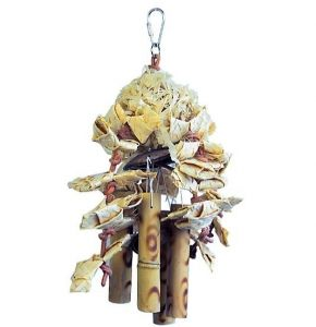 Natural Shred N Chime Medium Bird Toy
