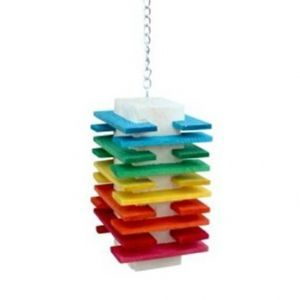 Block Tower Toy Wood Bird Toy