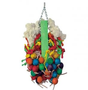 Wood & Rope Hive Large Parrot Toy