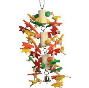 Starry Eyed Surprise Medium Wood Bird Toy