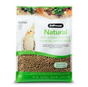 ZuPreem Natural Cockatiel Pellet Food 2.5lb