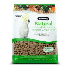 Zupreem Natural Large Bird Pellet Food 3lb