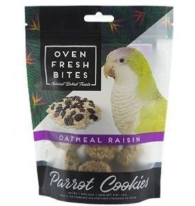 OVEN FRESH BIRDIE MUNCHIES PARROT TREAT - Oatmeal & Raisin 4OZ
