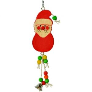 Silly Santa Wooden Bird Toy