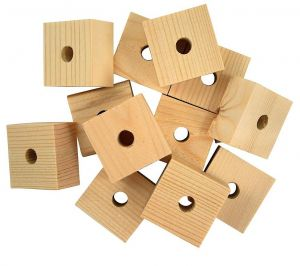 Pack of 12 Natural Wooden Blocks Toy Making Parts