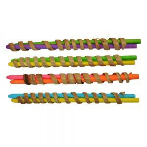 Curly Q`s Bird Foot Toy - Pack 4