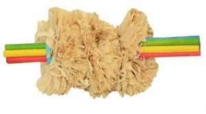 Corn Husk Toss Parrot Foot Toy