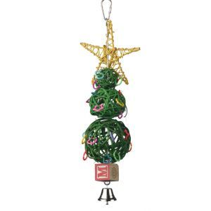 Vine Ball Christmas Tree Festive Bird Toy
