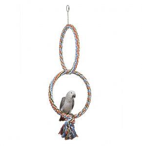 Medium Parrot Coloured Double Rope Hoops 30cm