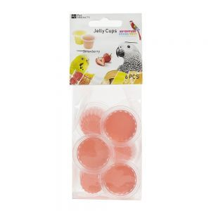 Fruit Cup Jellies Strawberry Bird Treat Pack 6