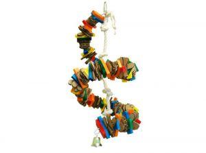 Zoo Max Bongo Twist Small Shredding Bird Toy With Wood